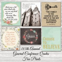 A Pocket full of LDS prints: 185th Annual General Conference Quotes (April 2015)