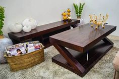 Something #modern? This Z range dark coffee #table is a sure stunner.  Visit our showroom to get one now!