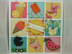 SUO Summer Shadowbox by Joyce Lowe - Cards and Paper Crafts at Splitcoaststampers Stampin' Up! Box Frame Art, Shadow Box Frames, Paper Crafts, Diy Crafts, Diy Paper, Decor Crafts, Collage Frames, Collages, Candy Cards