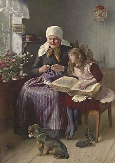Daydreaming. Harry Jochmus (German, 1855-1915).