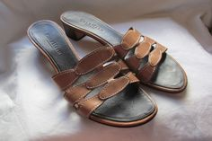 Cole Haan Resort Shoes Brown Leather Slide On Sandals Womens 8.5 B http://www.ebay.com/itm/-/401313845740?ssPageName=STRK:MESE:IT … #rhosplace