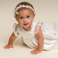 Leila Silk Christening Gown (Girl) | Baptism Outfits & Dresses