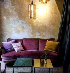 Love these colors Living Room Decor, Bedroom Decor, Living Rooms, Tadelakt, Purple Rain, Master Suite, New Homes, Lounge, Inspiration