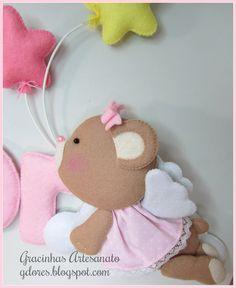 *FELT ART ~ Decoração quarto de bebé/infantil   Gracinhas Artesanato