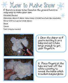 """Making """"Snow"""" With a Disposable Diaper"""