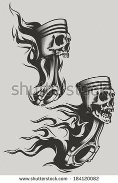 Afbeeldingen, stockfoto's en vectoren van Engine Pistons Tattoo Harley Tattoos, Biker Tattoos, Motorcycle Tattoos, Skull Tattoos, Body Art Tattoos, Tribal Tattoos, Sleeve Tattoos, Motorcycle Gear, Motor Tattoo