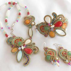 Soutache Jewelry, Brooch, Jewels, Bracelets, Rings, Floral, Handmade, Image, Jewellery