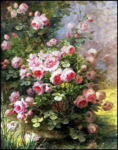 A View From Somewhere (elespleendeparis: Olga Wisinger Florian. Art Floral, Bel Art, Impressions Botaniques, Coming Up Roses, Rose Art, Pretty Art, Beautiful Paintings, Rose Paintings, Botanical Prints