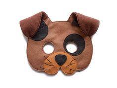 DOG Felt mask - Kids Toddler Puppy mask - Adult Brown Dog costume - Hound dress up - Pretend play accessory - Party supplies - dog dress up by pokiplays on Etsy https://www.etsy.com/dk-en/listing/475592474/dog-felt-mask-kids-toddler-puppy-mask