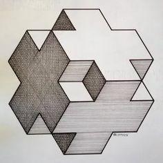 Необычные рисунки из геометрических фигур: 6 тыс изображений найдено в Яндекс.Картинках Illusion Drawings, Illusion Art, 3d Drawings, Geometric Shapes Drawing, Geometric Shapes Design, Escher Kunst, Arte Linear, Isometric Drawing, Graph Paper Art