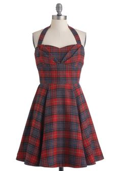 Plaid a Line Dress, #ModCloth  adore this dress but it's partially wool and therefore I could never wear it. :(