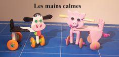 les mains calmes: cochon à roulettes