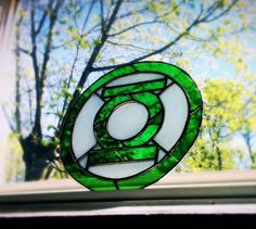 Green Lantern Stained Glass
