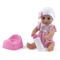 Dolls World - 30cm Baby Dribbles Drink and Wet Doll