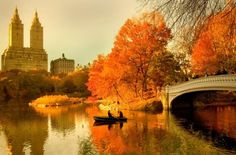 Central Park in the fall. New York, New York.