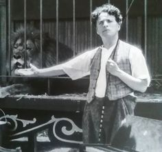 """Charlie on the set of """"The Circus"""" He was so stressed during the shooting of this movie his hair turned white :("""