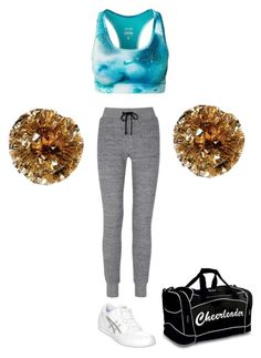 Brianna Knight's Cheer Practice Outfit by elizabethcooke on Polyvore featuring polyvore fashion style rag & bone NIKE Asics