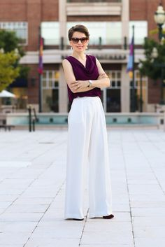 transitional work attire | tips on how to style wide leg pants - hampton roads