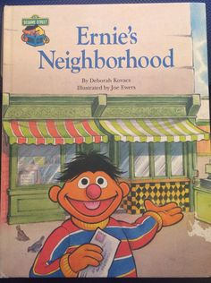 Ernie's Neighborhood Sesame Street Book Club 1987 hardcover  on Etsy, $5.00