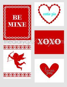 Free Printable Valentines   The Diary Of DavesWife