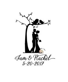 Silhouette Pictures, Couple Silhouette, Silhouette Art, Silhouette Projects, Bride And Groom Silhouette, Wedding Silhouette, Lettering Styles, Vinyl Lettering, Wedding Cards Handmade
