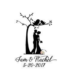 Couple Silhouette, Wedding Silhouette, Silhouette Pictures, Silhouette Painting, Silhouette Projects, Silhouette Cameo, Glass Picture Frames, Wedding Picture Frames, Wedding Cards Handmade