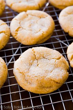 Chewy and super-soft Brown Sugar Cookie recipe by sallysbakingaddiction.com. No mixer required!