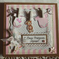 Открытка для новорожденной малютки :) #скрапбукинг #кардмейкинг #открыткиручнойработы #томск #handmade #scrapbooking #paper #baby #newborn #bittercraft