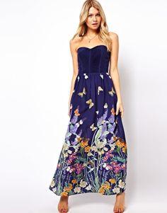 Oasis - Maxi robe en soie à motif papillons