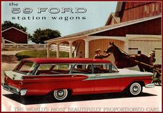 1959 Ford Country Sedan Station Wagon  , our old station looked somewhat like this