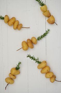 krieltjes met rozemarijn - bbq potato