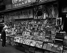 "Berenice Abbott Art for Sale. Berenice Abbott ""News Stand"" Photograph Gelatin Sliver Print, Berenice Abbott, New York Photos, Old Photos, Vintage Photos, History Of Photography, City Photography, Social Photography, Famous Photography, Photography Exhibition"