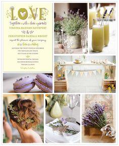 Lavender DIY wedding