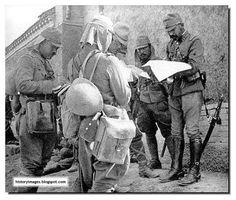 Japanese officers confer.