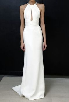 Halter Neckline Formal Party Dress,White Prom Dress,White Sexy