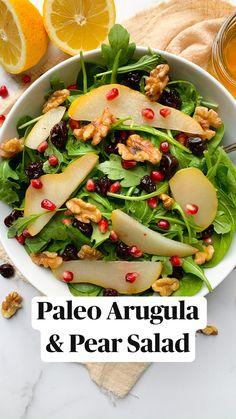 Vegetarian Salad Recipes, Easy Salads, Healthy Salad Recipes, Summer Salads, Whole Food Recipes, Healthy Snacks, Vegetarian Recipes, Dinner Recipes, Healthy Eating
