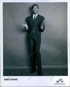 LG165 Iconic Soul R&B Gospel Singer Sam Cooke RCA Records Press Photo