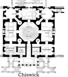 1729 - Chiswick House - plan - London