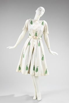 Dress House of Givenchy (French, founded 1952) Date: 1953 Medium: linen