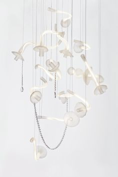 LEVI is the new project art chandelier. The diferent parts of chandelier are flying around like at dream. You are under lights like in cosmic space.... levi designed by Filip Houdek HG Atelier Design www.hgatelier.com www.filiphoudek.com