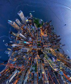 "New York City, New York, USA - from above - ""Photo by @lensaloft"
