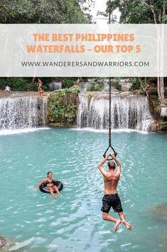 The Best Philippines Waterfalls – Our Top 5 - Wanderers & Warriors - Charlie & Lauren - Cambugahay Falls Siquijor Island - Siquijor Tourist Spots