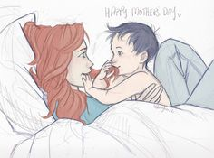 Lily and little Harry for Mother's day. <3    (c) burdge