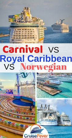 3 Big cruise lines compared in 10 critical areas. Let's look at Carnival Cruise Line, Royal Caribbean Cruies, and Norwegian Cruise Line up close and see how they are different from one another. Find the best cruise line for you using our helpful guide! Cruise Excursions, Cruise Destinations, Cruise Travel, Cruise Vacation, Family Destinations, Vacations, Honeymoon Cruise, Vacation Travel, Best Cruise Lines