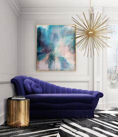 How To Use Ultra Violet - Pantone Colour of The Year 2018 | Our love affair continues with the wonderful texture of velvet and so it's no surprise to see Pantone's Ultra Violet spilling out into standout statement pieces. #ultraviolet #pantone #colour #colouroftheyear #sofa #sidetable #purple #contemporary #chaiselonge