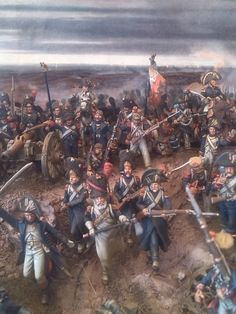 The Last Stand of The Old Guard at Waterloo, a diorama using 28mm figures by Luis Gracia Balaguer