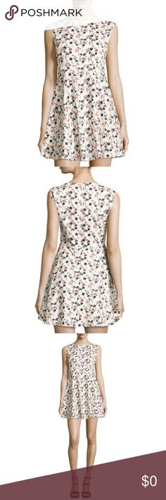 """🆕 NWT FRENCH CONNECTION FLORAL DRESS NWT French Connection floral-print sleeveless mini dress. Winter white and multi-color floral print. Bateau neckline, sleeveless, pleated a-line skirt, hidden back zip. Cotton/spandex with polyester/spandex lining. Size 8. Measurements: Shoulder to hem 32"""". French Connection Dresses Mini"""