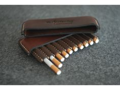 Leather cigarette case Gifts for smokers by ArtLeatherDesign