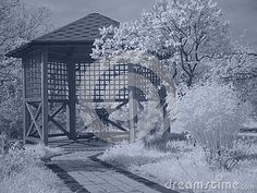 Download Arbor In Infrared Royalty Free Stock Image