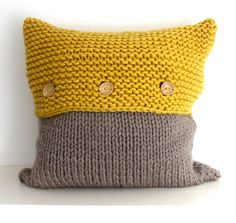 The Frensham Cushion Cover PDF Pattern. Hand knit your own cushion cover (or decorative pillow cover!) from this instant download PDF